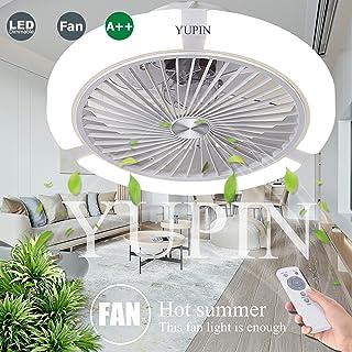 LED Invisible Ventilador De Techo Ventilador Lámpara De Techo Luz De Techo Regulable Con Control Remoto Para Lámparas De Sala De Estar Dormitorio Habitación De Niños Ventilador Silencioso Iluminación