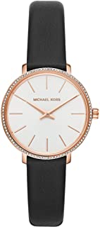 Michael Kors Women's Quartz Wrist Watch analog Display and Leather Strap, MK2835