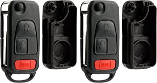 KeylessOption Replacement Keyless Entry Remote Fob Clicker Flip Key Shell Case (Pack of 2)