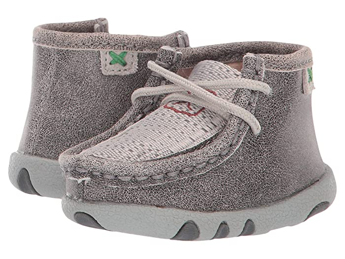 Twisted X  Chukka Driving Moc (Infant/Toddler) (Grey/Light Grey) Shoes