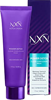 NxN Kaolin Clay Detoxifying Face Mask with Licorice Root & Grapeseed Oil for Oily/Combination Skin 1.0 Fl Oz