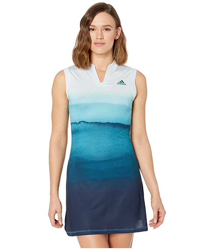 adidas Parley Dress (White/Easy Blue) Women