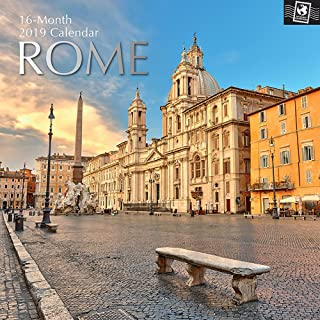 2019 Wall Calendar - Rome Calendar, 12 x 12 Inch Monthly View, 16-Month, Travel and Destination Theme, Includes 180 Reminder Stickers