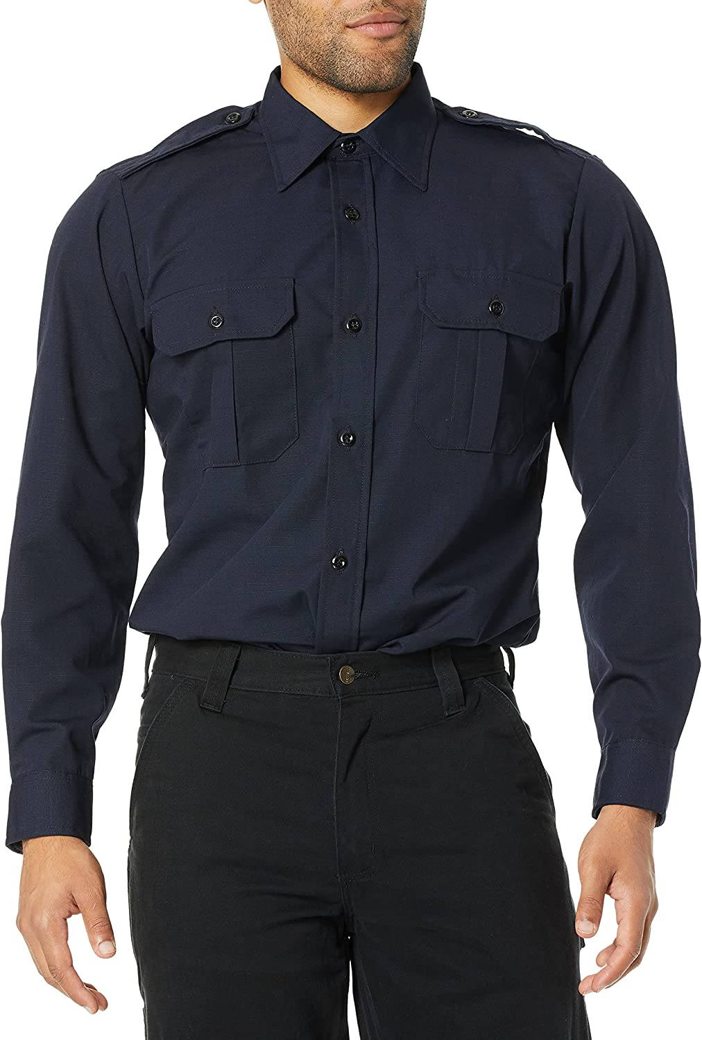 Propper Men's Long Sleeve Tactical Award-winning store Dress Shirt We OFFer at cheap prices La 3X Navy Lapd