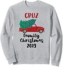 Red Christmas Truck Tree 2019 Cruz Family Matching Sweatshirt