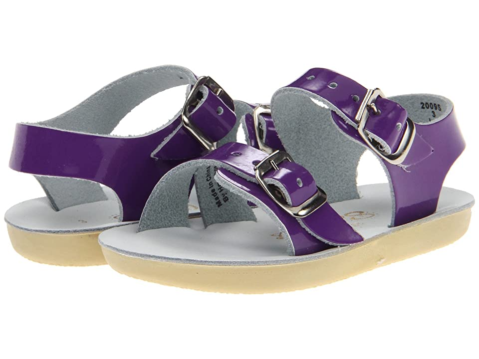 Salt Water Sandal by Hoy Shoes Sun-San Sea Wees (Infant/Toddler) (Shiny Purple) Girls Shoes