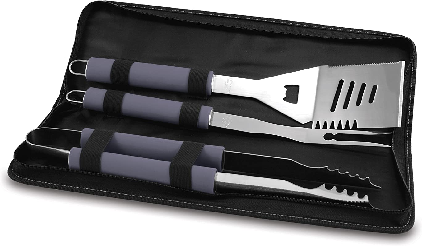 NFL Dallas Cowboys Metro 3 Piece BBQ Tool Set In Carry Case Black
