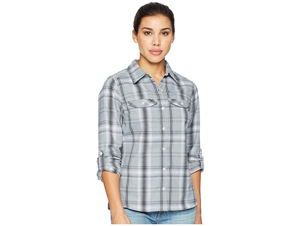 Columbia Silver Ridge Long Sleeve Flannel Shirt (Cirrus Grey Ombre Window Plaid) Women