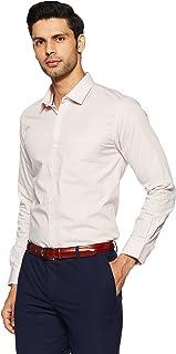 Peter England Men's Printed Slim Fit Cotton Formal Shirt