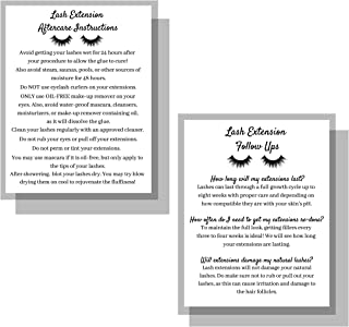 Lash Extension After Care Instruction Cards for Clients | Post Card Size 4.25 x 5.5