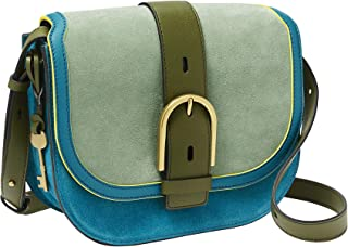 Women's Wiley Leather Saddle Bag Crossbody Purse Handbag