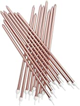Creative Party 16 Extra Tall Metallic Rose Gold Cake Candles AHC211ANH_SML