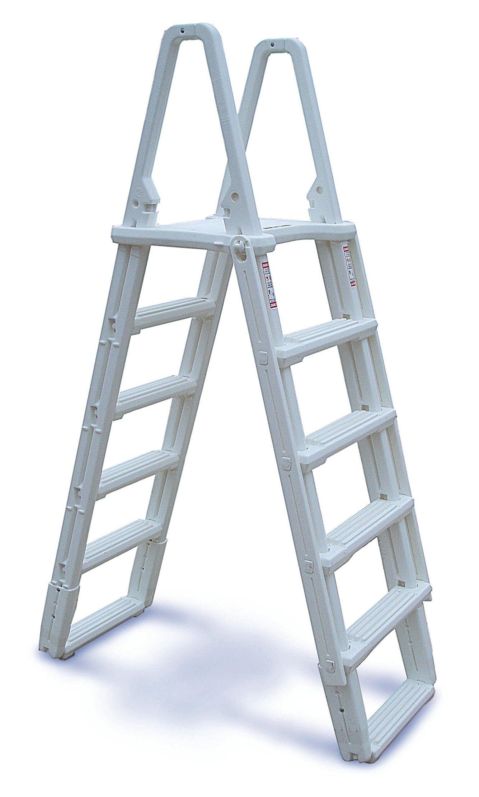 Interline 7 – 01 – 7100 de N/B Plástico a de Frame Alto Escalera, para construcción de Montaje y Piscinas: Amazon.es: Jardín