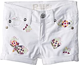 Griffin Roll Embroidered Shorts (Toddler/Little Kids/Big Kids)