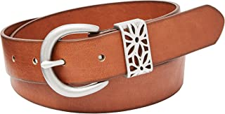 Women's Floral Perforated PVC Belt