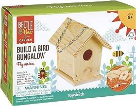 Toysmith Beetle & Bee Build A Bird Bungalow, Backyard Birdhouse Kit with Fsc..