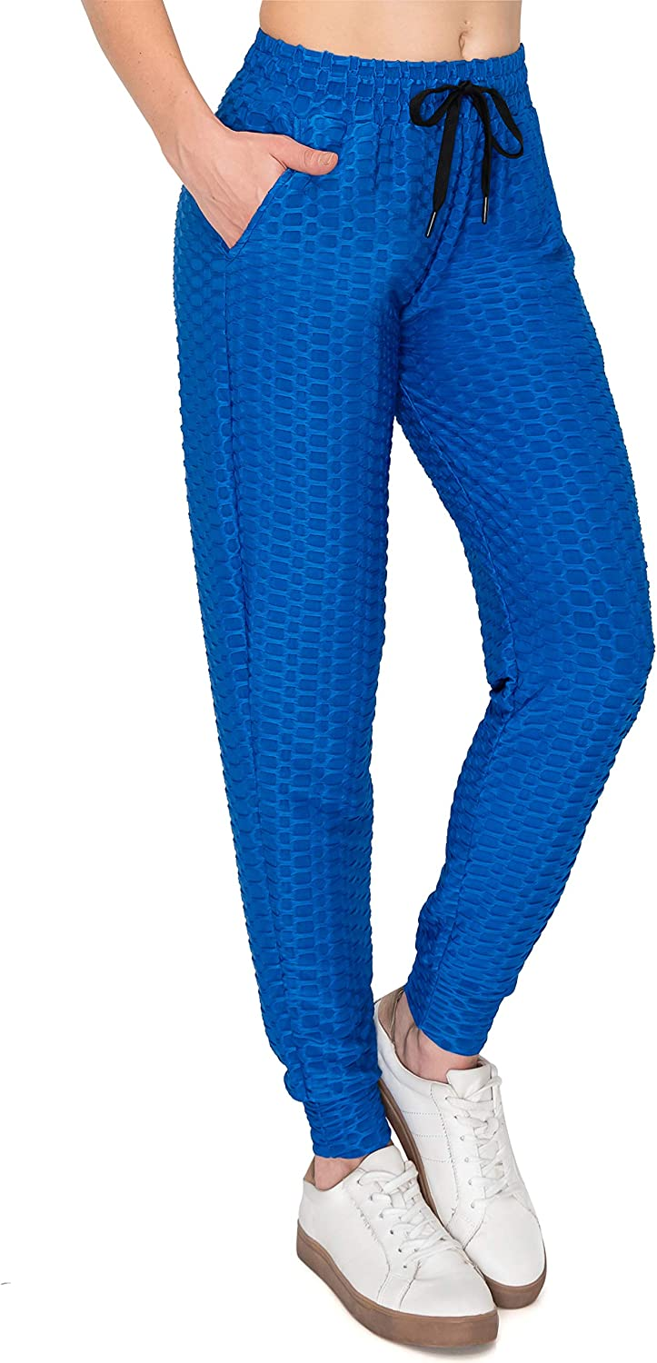 ALWAYS High Waist Honeycomb Leggings - Women's Sexy Compression Slimming Scrunch Booty Pants
