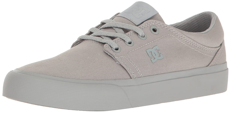 DC Women's Trase TX Skate Shoe Skateboarding, Grey/Grey/Grey, 10