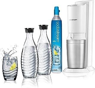 SodaStream Crystal - Máquina para soda (Acero inoxidable, Color blanco, Metal, De plástico, Caja)