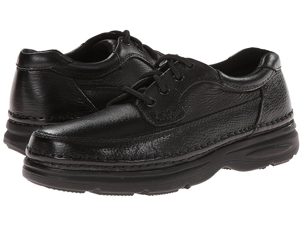 Nunn Bush Cameron Comfort Walking Oxford (Black Tumbled Leather) Men