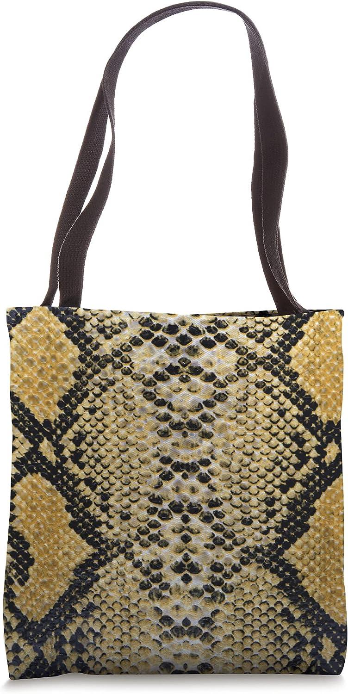 Cute Snake Skin Animal Print Tote Bag