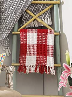 red and white throw