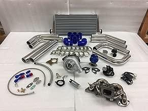 89-98 240SX S13 S14 KA24DE 2.4 T3T4 .63 Turbo Kit Stainless Steel Manifold FMIC