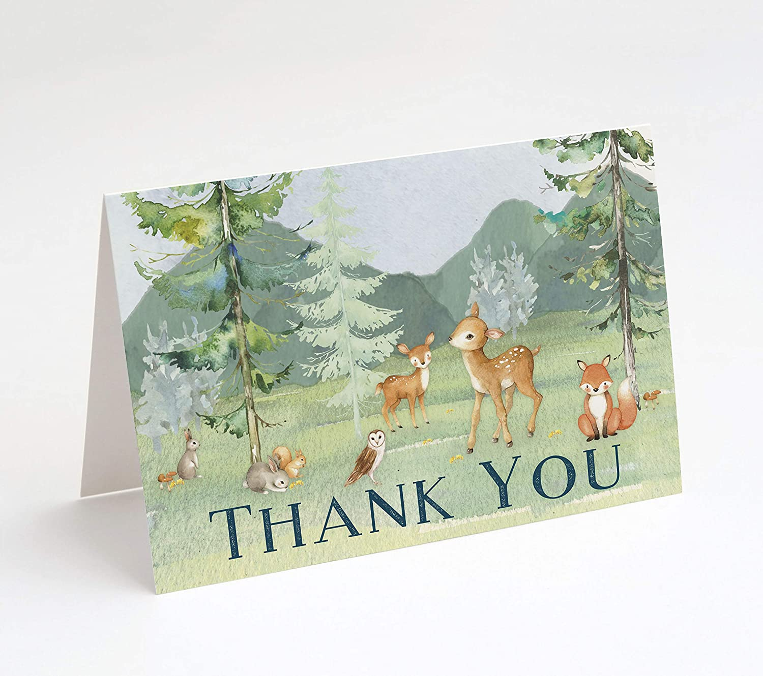 Woodland Animals Stationery: Invitations & Thank You Cards (Thank You Cards)