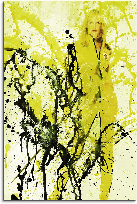 Uma Thurman Kill Bill Art 90x60cm - Wandbild als Kunstbild Malerei Fotoleinwand fertig auf Keilrahmen direkt vom Künstler B01APLSO5G