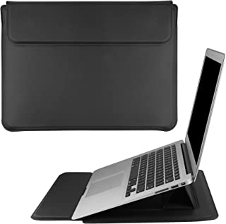 DICOLLAS 15.4 Inch Laptop Sleeve PU Leather Case 4 in 1 PC Organizer Holder Dissipate Heat Bracket and Protector Compatibl...