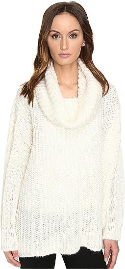 Manila Grace - Drape Neck Sweater