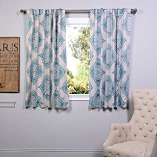 HPD Half Price Drapes BOCH-KC27A-63 Blackout Room Darkening Curtain (1 Panel), 50 X 63, Henna Teal