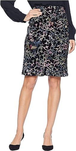 Sequin Embroidered Skirt on Velvet