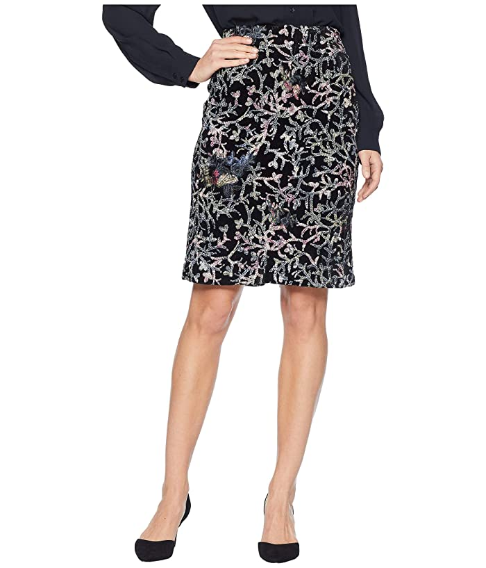 48bc3ea569 Tahari by ASL Sequin Embroidered Skirt on Velvet at 6pm