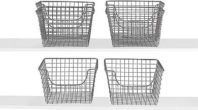 Spectrum Diversified Scoop Storage Basket, Industrial Gray, 6-Pack (Medium)