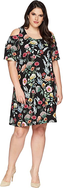 Karen Kane Plus Plus Size Cold Shoulder Dress