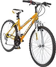 Titan Women's 18-Speed Pathfinder Front-Suspension Mountain Bike, Sunkissed Orange, 17-Inch Frame, 26-Inch Alloy Wheels
