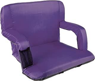 Wakeman 广场体育场座椅椅 漂白器 软垫 带衬垫背支撑 紫色