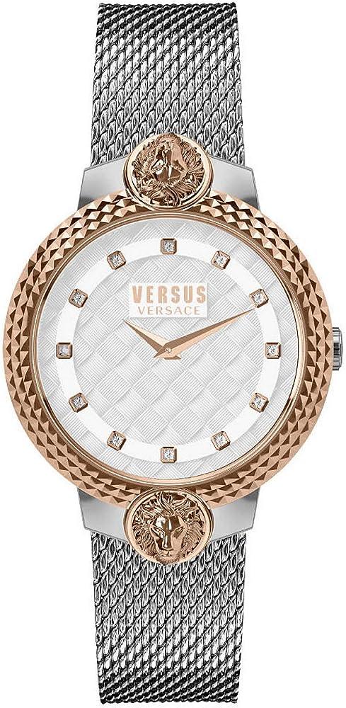 Versus versace orologio da donna in acciaio inossidabile VSPLK1520