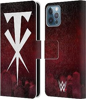 Head Case Designs Offizielle WWE Kreuz Undertaker Leder Brieftaschen Handyhülle Hülle Huelle kompatibel mit Apple iPhone 12 / iPhone 12 Pro