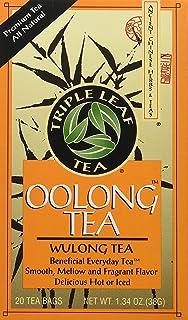 Triple Leaf Tea - Oolong Tea Bags, Wulong Tea, Semi-Oxidized, 20 Tea Bags