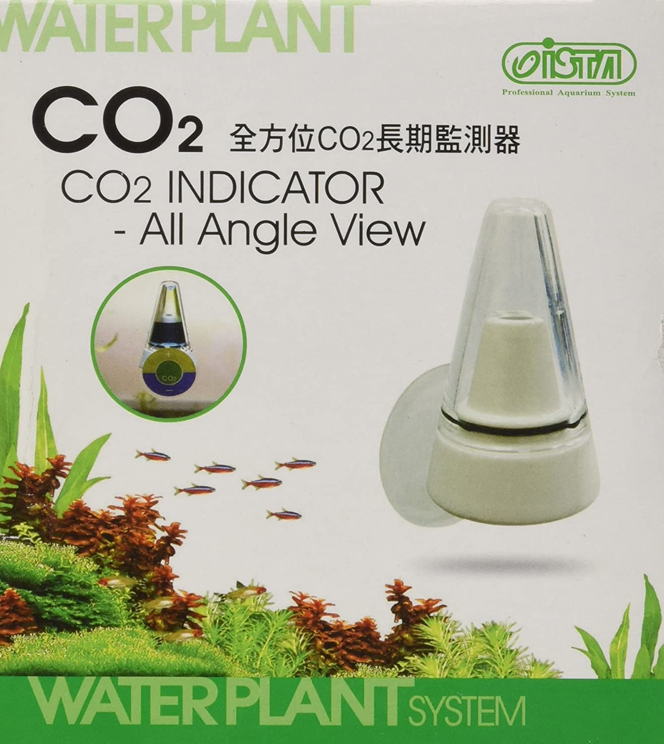 CO2 Indicator All Angle View Drop Checker LONG TERM MONITOR test Real time kits