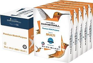Hammermill Printer Paper, Premium Multipurpose Paper 24 lb, 8.5 x 11 - 5 Ream (2,500 Sheets) - 97 Bright, Made in the USA,... photo