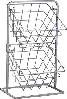 KitchenCraft Industrial Kitchen Vintage-Style Tiered Wire Storage Baskets, Carbon Steel, Grey, 25 x 22 x 41.5 cm