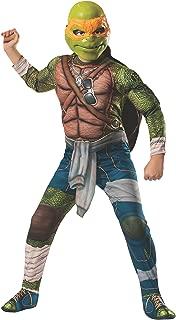Rubies Teenage Mutant Ninja Turtles Deluxe Muscle-Chest Michelangelo Costume, Medium