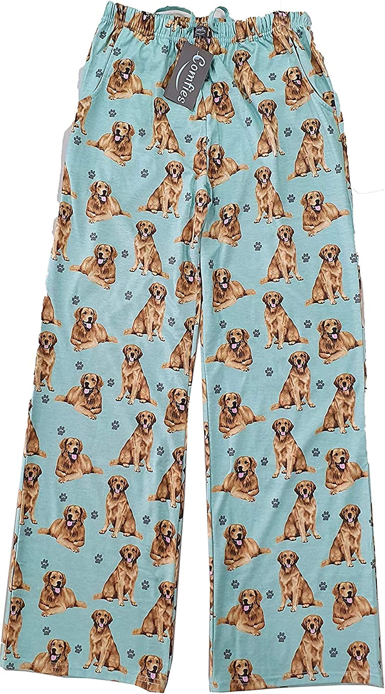 Golden Retriever Unisex Lightweight Cotton Blend Pajama Bottoms – Soft and Comfortable – Perfect for Golden Retriever Gifts
