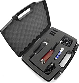 Casematix Buzzer , Clipper , T Trimmer Storage Case for Stylist or Barber Fits Oster Classic 76 , Wahl , Andis Cordless , Blades , Scissors , Comb and Hair Cut Accessories