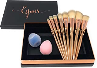 Contour Makeup Brushes Gift Set With Microfiber Beauty Sponges