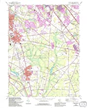 YellowMaps Pitman East NJ topo map, 1:24000 Scale, 7.5 X 7.5 Minute, Historical, 1966, Updated 1994, 26.9 x 21.9 in
