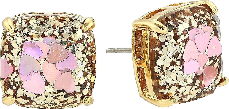 Kate Spade New York Glitter Small Square Stud Earrings Blush Multi One Size
